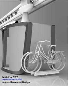 Pod design with bike carrier
